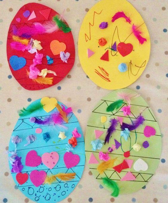 Easter crafts decorating card easter eggs crafts for Easter craft for preschool