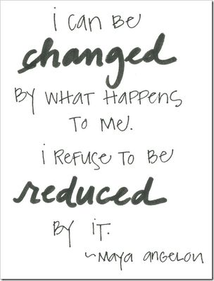 changed but not reduced