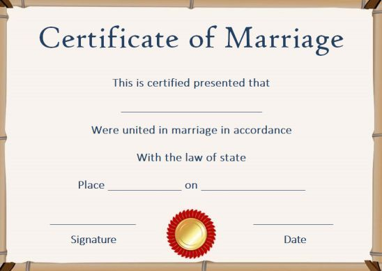 Fake Marriage License Template Marriage License Template Marriage License Marriage