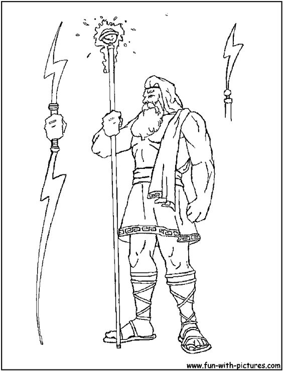 Zeus Greek God Coloring Pages