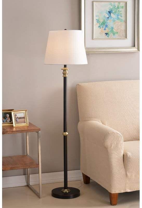 Charlton Home Figueiredo 58 Floor Lamp Desklamps Antique Brass Floor Lamp Brass Floor Lamp Traditional Floor Lamps