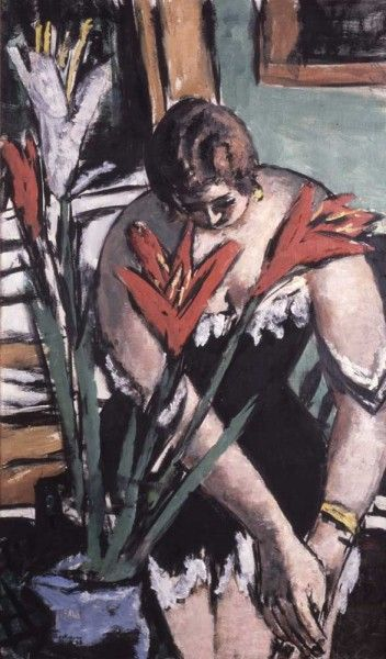 Max Beckmann, Woman at Her Toilette...