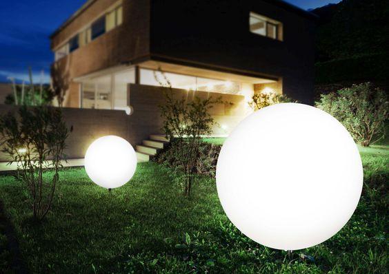 Kugelleuchte Toula Modern 80cm Aussenleuchten Haus Aussenbeleuchtung Garten Beleuchtung Gestalten Ideen Lichterkette Aussenleuchten Aussenbeleuchtung Kugel