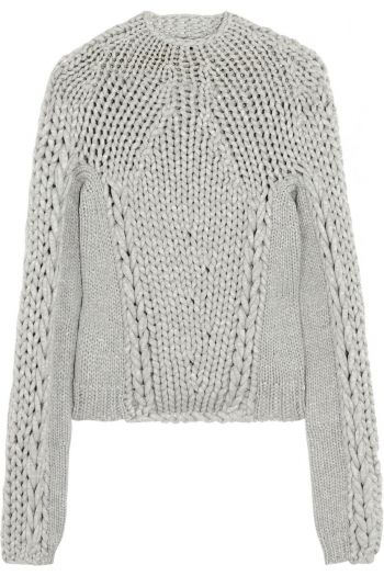 ALEXANDER WANG Chunky-knit cotton-blend sweater