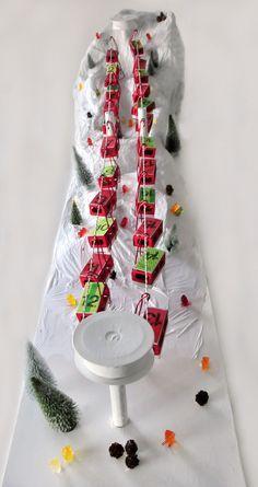 miss red fox - Seilbahn Wertmarken Adventskalender - Funicular Advent Calendar