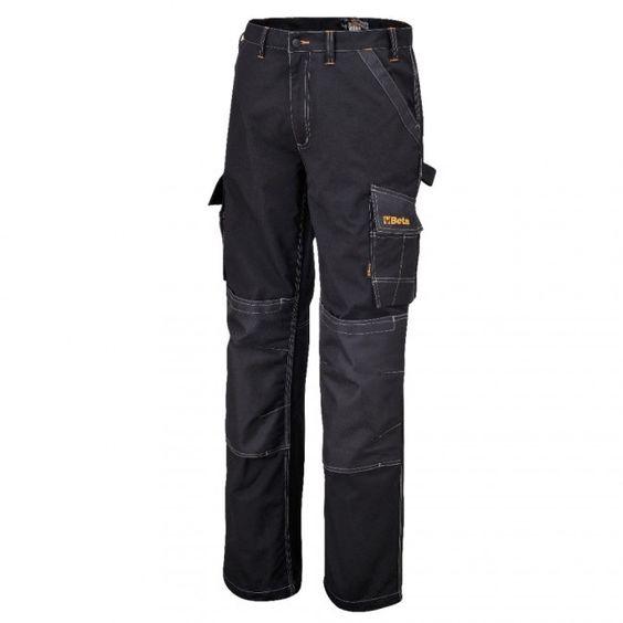 Beta Pantaloni da lavoro multi tasche porta utensili cerniera neri 7815N
