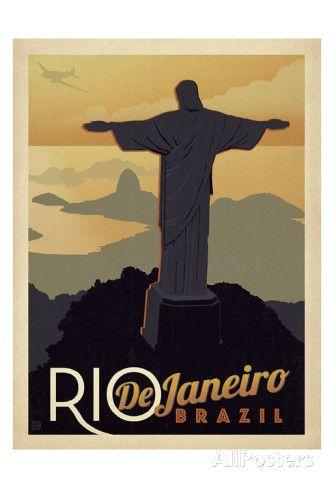 Rio de Janeiro, Brésil Posters par Anderson Design Group sur AllPosters.fr