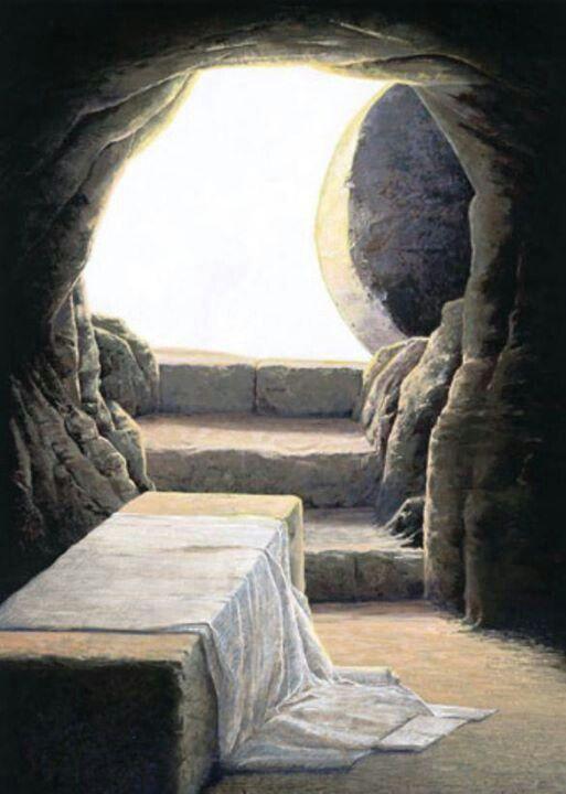 The empty tomb of Jesus.