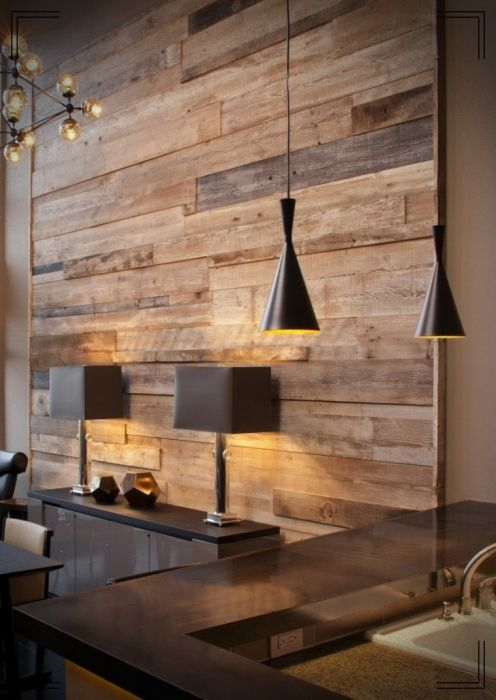 Pareces Decoradas Con Madera Es Lo Que Hoy Te Compartimos En Mundo Fachadas Que Te Parece Te Apuntas T Wood Feature Wall Reclaimed Wood Feature Wall Decor