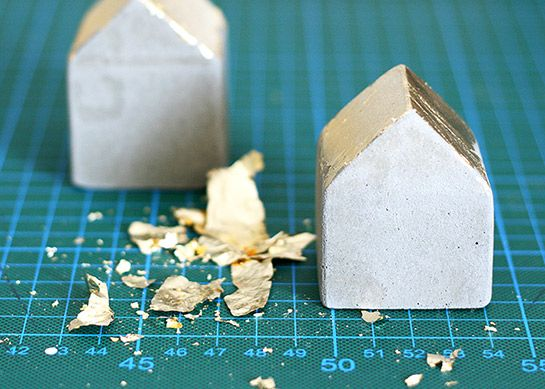 Betonhäuschen mit Gold | DIY LOVE