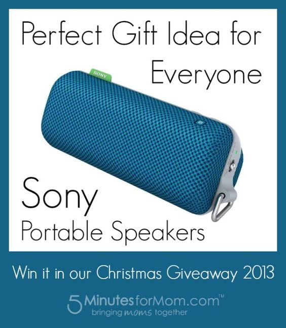 Sony SRS-BTS portable speakers are the perfect gift for everyone on your list. Win one at http://www.5minutesformom.com