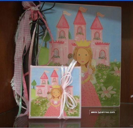 Μπομπονιέρα βάπτισης κουτί με θέμα πριγκίπισσα σε κολλάζ οικονομική. mpomponieresvaptisis.gr