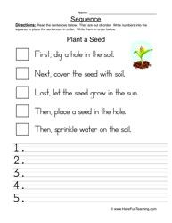 Sequence Worksheets First Grade Worksheets for all   Download and ...