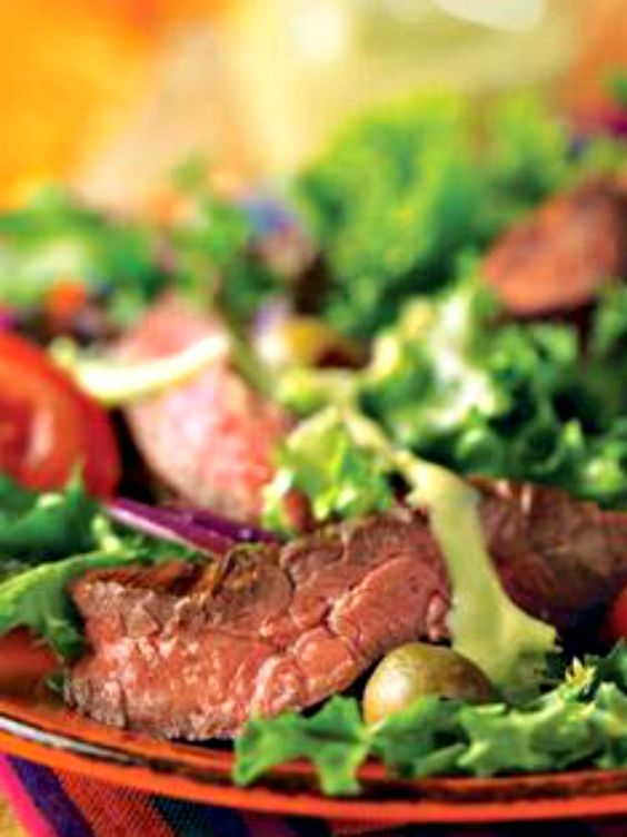 steak salad and more creamy avocado dressing steak salad skirt steak ...