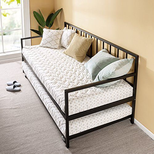 Zinus Eden Twin Daybed And Trundle Set Premium Steel Slat Support Daybed And Roll Out Trundle Accommodate Twin Size Mattresses Sold Separately Em 2020 Moveis Decoracao Apartamento
