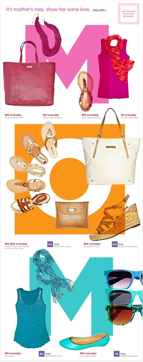 JCPenney Mothers Day product image newsletter theme