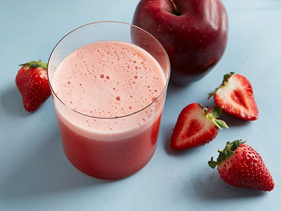 Strawberry-Apple Juice: Strawberries and apples are a great couple in this pretty pink juice. Be sure to drink it as soon as possible after it's made for the most nutritious bang.