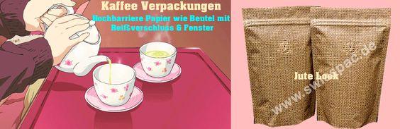 Kaffee Verpackungen - Hochbarriere Papier wie Beutel mit Reißverschluss and Fenster