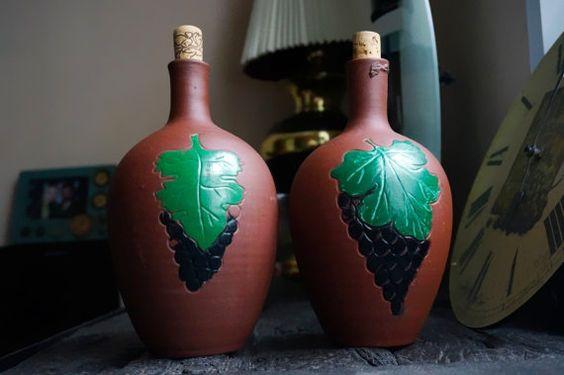 Soviet vintage bottle of vine tincture kitchen by Watchesparts
