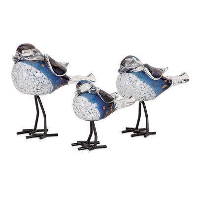 August Grove 3 Piece Bird Figurine Set