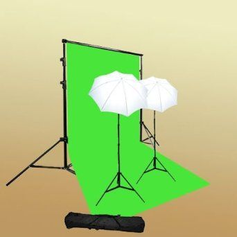 Amazon.com: ePhoto T69green/bag Continuous Lighting Green Screen Studio Kit with Carrying Bag with 6x9 Feet Chroma key Green Screen, 2 7 Foo...