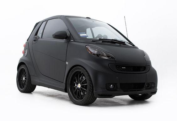 Matte Black Smart Car Cars Pinterest Smart Car Cars And