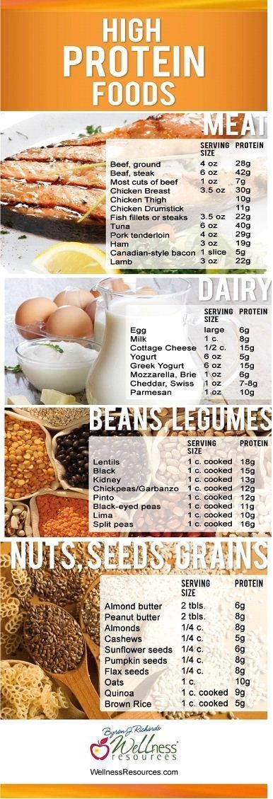 79 high protein foods   don't forget to look at the fat and carb content too