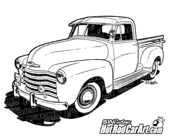 drawings of chevy classic trucks pictures to pin on