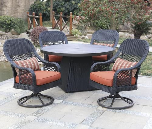 Backyard Creations Emory Point Collection 5 Piece Dining Patio Set At Menards Backyard Creations Re Outdoor Furniture Sets Outdoor Spaces Backyard Creations