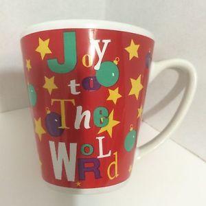 New Red White Christmas Coffee Mug By Test Rite International Stoneware 12 Oz