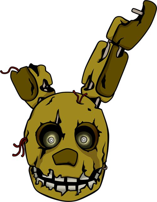 Fnaf coloring page fnaf pinterest five nights at freddy s - Golden Bonnie Head By Kaizerin Deviantart Com On