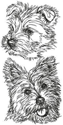 West Highland White Terrier Set