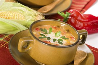 Creamy roasted corn and red pepper soup | Healthy recipes | Allina Health