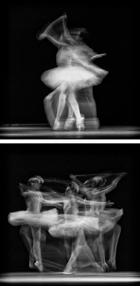 Movement; the dynamic photos shows the movement of many ballerinas as you can see we're they moved because the affect of the blur