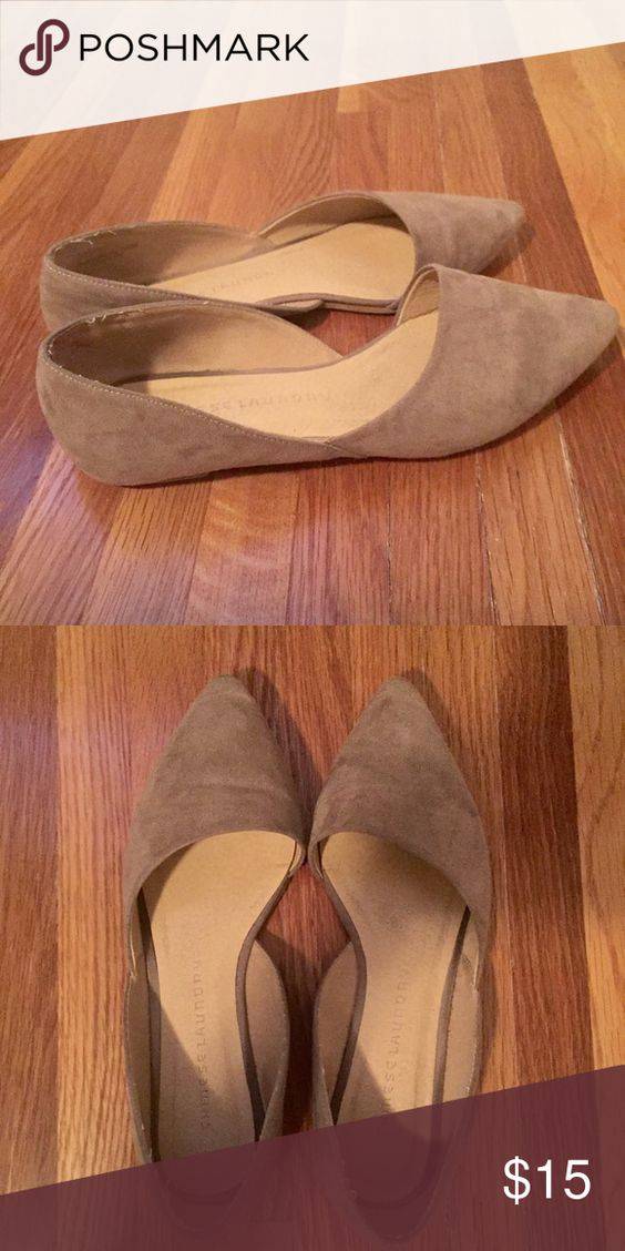 Suede Nude Flats Worn but in great condition. No marks or missing suede. Chinese Laundry Shoes Flats & Loafers
