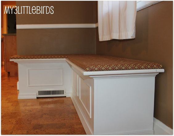 Diy kitchen banquette ok this needs much thicker cushions and a back would be nice but this - Diy kitchen banquette ...