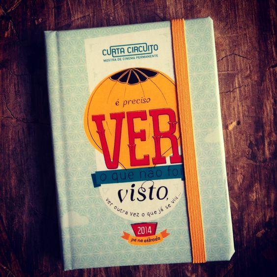 Caderneta Mostra Curta Circuito 2014 Produção Editorial: Daniela Fernandes  Designer: Naraiana Peret
