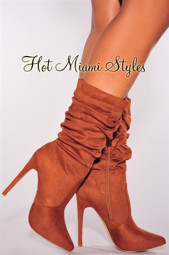 tan faux suede scrunch boots accessories i want pinterest boots