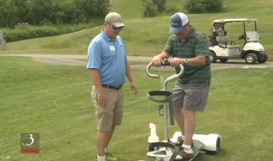 """Golf boards at Killington speed up the game a bit, """"On a golfboard, the average 18-hole round right now through the golfboard stats is 2 hours 37 minutes."""""""