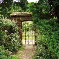 The gate into the secret garden at Highclere