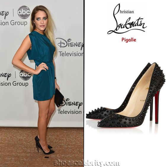 CARLY CHAIKIN CHRISTIAN LOUBOUTIN PIGALLE STUDDED PUMPS #prom #heels