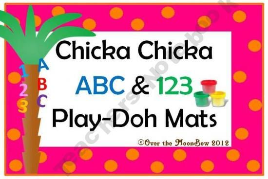 Chicka Chicka ABC & 123 Play-doh Mats: Benefit Students, Fine Motor Skills, Abc 123, Chicka Abc, Abc S, Chicka Playdough, Play Dough, 123 Play, Play Doh