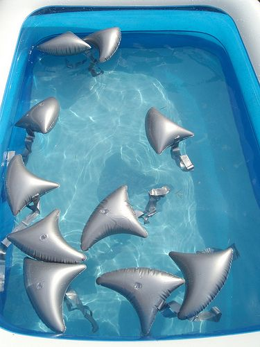 shark pool party - love these for a pool party