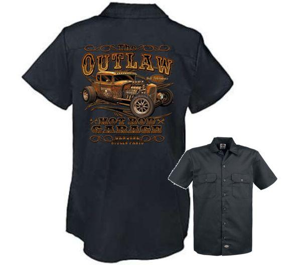 Outlaw Garage Biker Harley Men's Mechanics Dickies Work