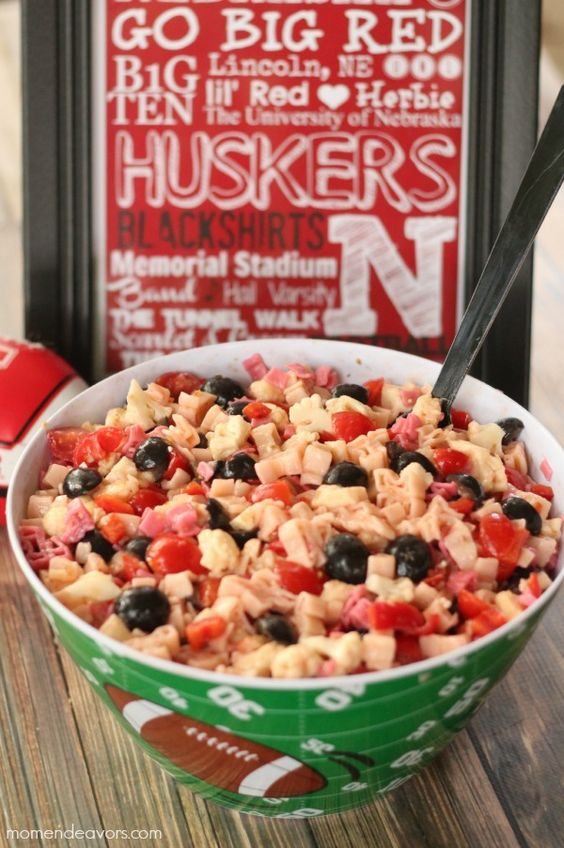 Tailgating Team Spirit Pasta Salad