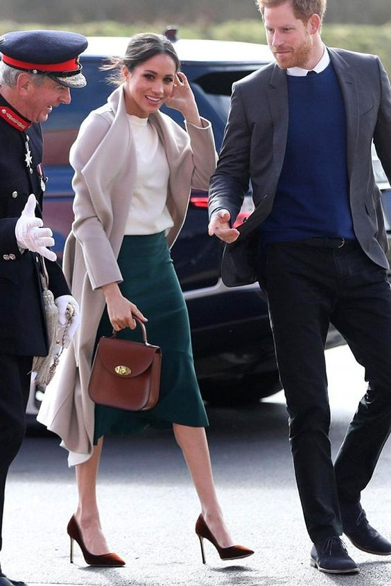 Meghan Markle's Dreamy Jimmy Choos and Mackage Coat Stole The Show in Ireland