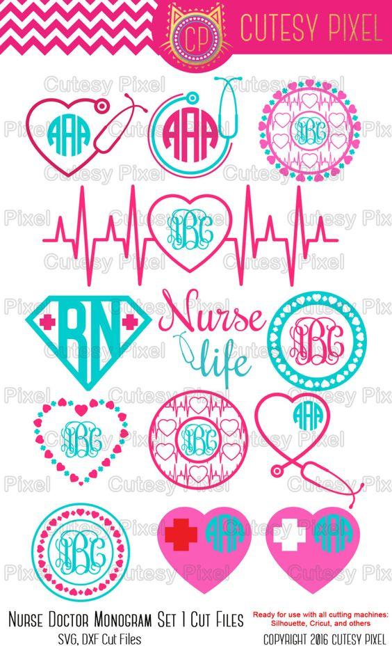 Nurse Svg cutting file, nurse Desings SVG, DXF, Cricut Design Space, Silhouette Studio,Digital Cut Files by CutesyPixel on Etsy