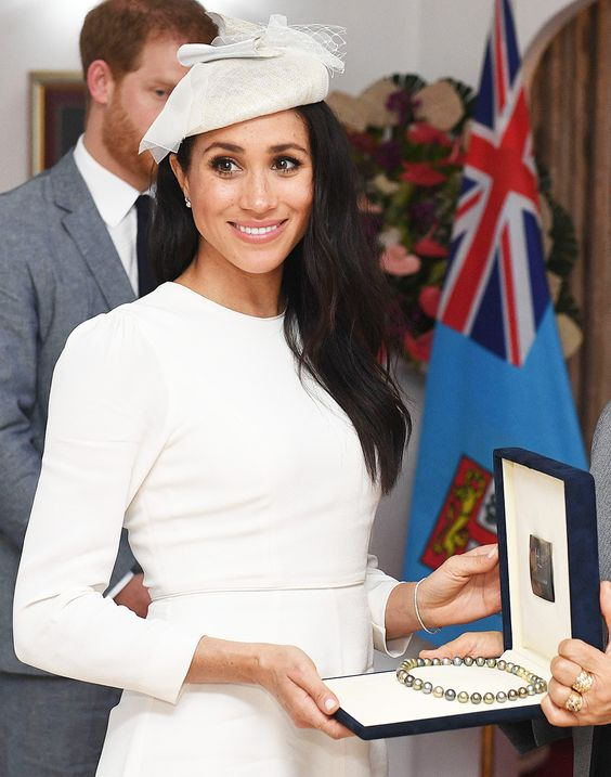 Meghan Duchess of Sussex visits His Excellency The President of Fiji at Borron House, SuvaPrince Harry and Meghan Duchess of Sussex tour of Fiji – 23 Oct 2018Prince Harry and Meghan Duchess of Sussex visit His Excellency The President of Fiji at Borron House, Suva -- HollywoodLife