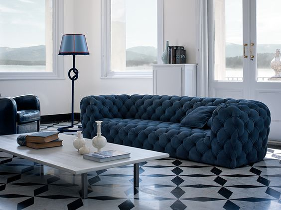 Tufted Nabuk sofa CHESTER MOON by Paola Navone | Sofa - BAXTER