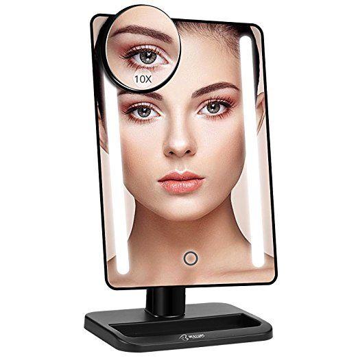 Makeup Vanity Mirror With Lights, Kedsum 6 8 10x Magnifying Led Lighted Makeup Mirror